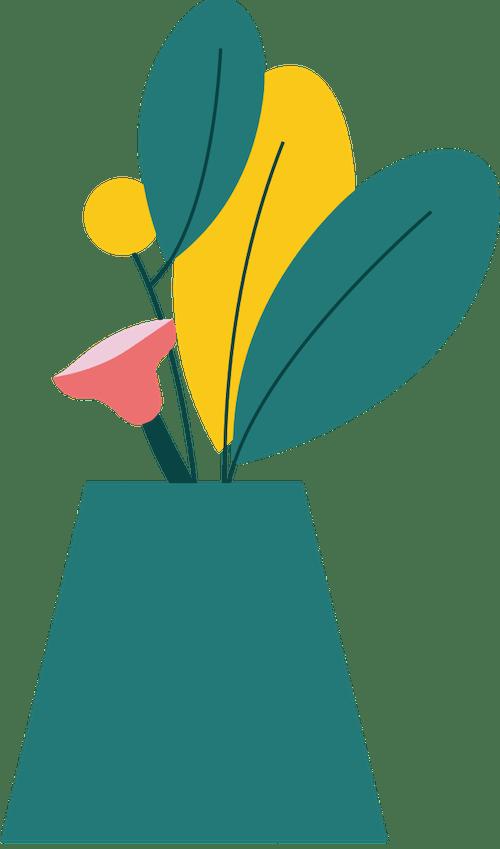 Tall Vase Plant 4