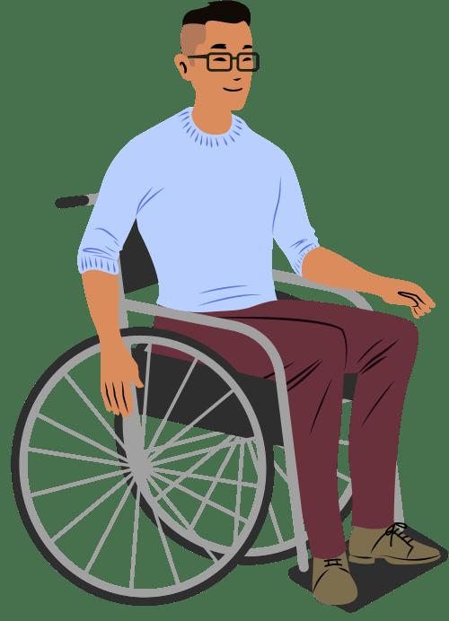 Sitting Wheelchair