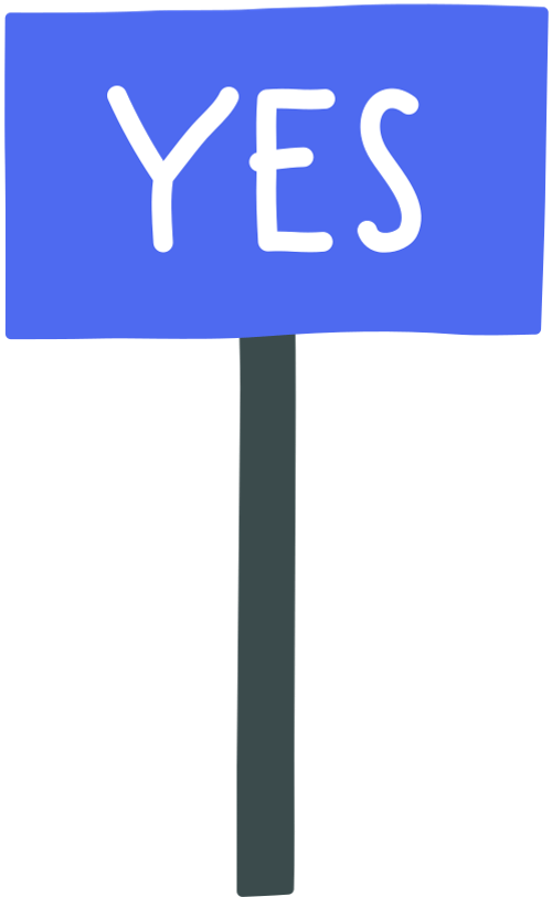 Sign Yes